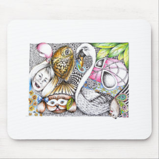 abstract cycle of life mousepad