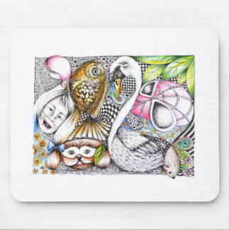 abstract cycle of life mouse pads