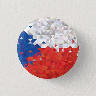 Abstract Czech Republic Flag, Czech Colors Button