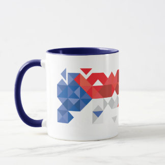 Abstract Czech Republic Flag, Czech Colors Mug