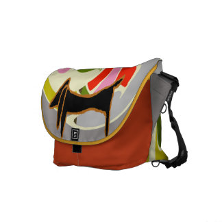Abstract Dachshund Commuter Bag
