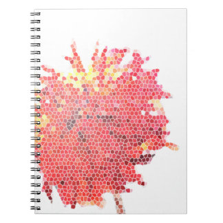 Abstract Dahlia Spiral Notebook