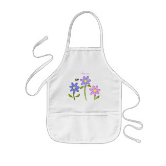 Abstract Daisies on Kid's Apron