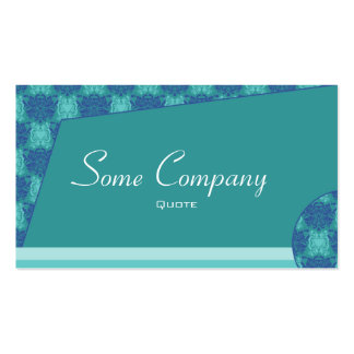 Abstract Damask (Ocean View) Business Card