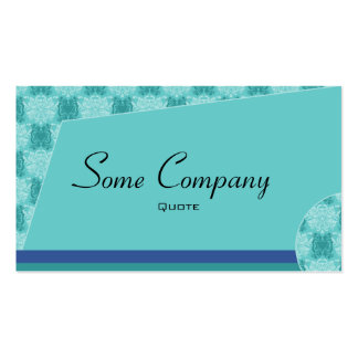 Abstract Damask (Ocean View) Business Card Templates