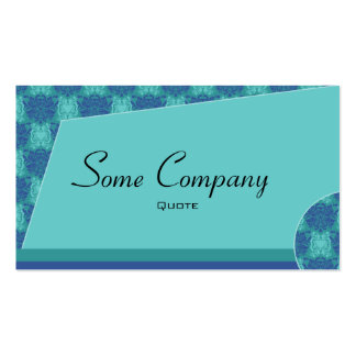 Abstract Damask (Ocean View) Business Cards