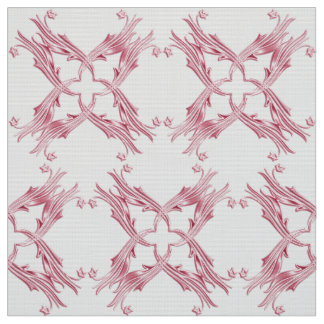 Abstract damask pink pattern fabric