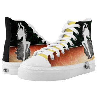 Abstract Dancer High Tops