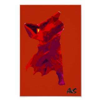 ABSTRACT DANCER POSTER