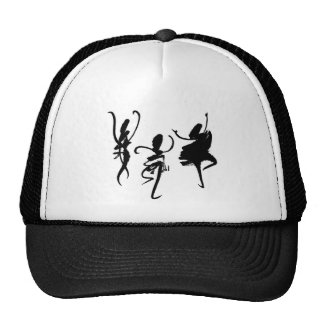 Abstract dancers - dancing chinese letters. cap