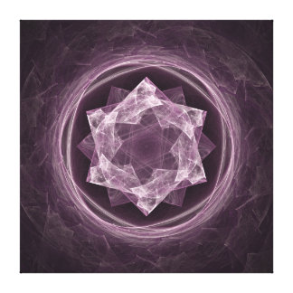 Abstract Dark Grayish Purple Fractal Canvas Print