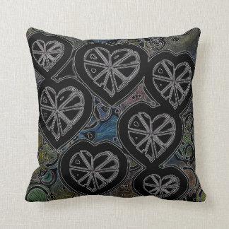 Abstract dark hearts cushions