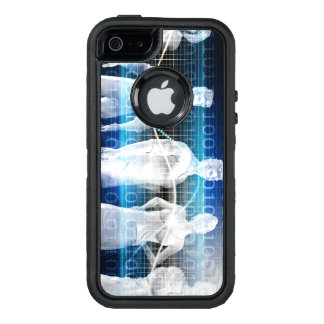 Abstract Data of Population and Key Demographic OtterBox Defender iPhone Case