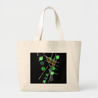 Abstract decorative design jumbo tote bag