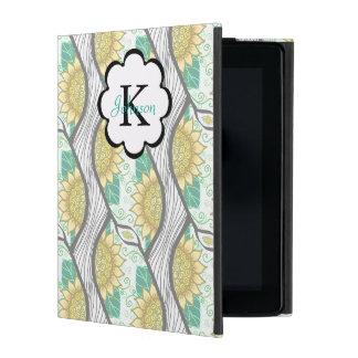 Abstract Decorative Sunflower Personalizable iPad Folio Case