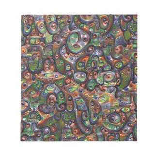 Abstract Deep Dream Artwork Notepad