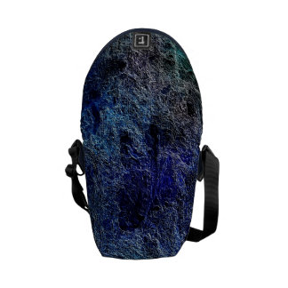 Abstract Deep Rich Jewel Colors Mini Messenger Bag