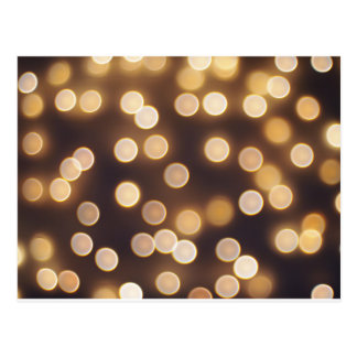 Abstract defocused and blur bokeh of small yellow postcard