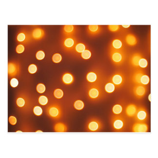 Abstract defocused and blur small yellow lights postcard