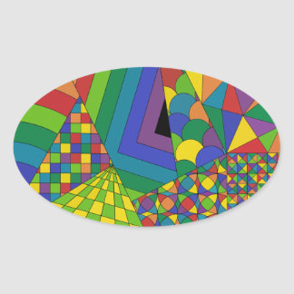 Abstract Design 1 Oval Sticker