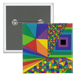 Abstract Design 2 15 Cm Square Badge