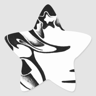 Abstract design art star sticker
