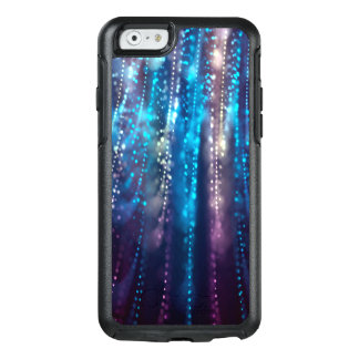 Abstract Design Blue and Silver Glitter Shower OtterBox iPhone 6/6s Case