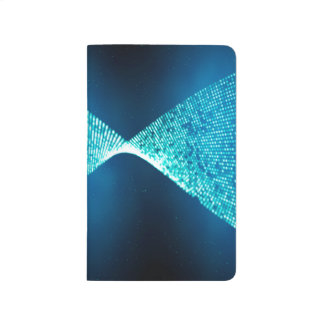 Abstract Design Blue Backround And Silver Spectum Journal