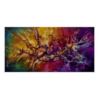 Abstract design c521 poster