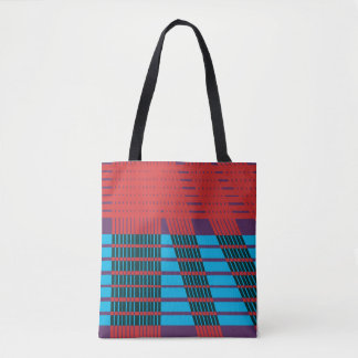 abstract design elegant and modern cross stripes tote bag