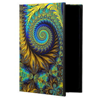 Abstract Design Feather Look Yellow And Blue Whirl Powis iPad Air 2 Case