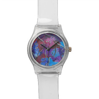 Abstract Design for Watch with Clear Band