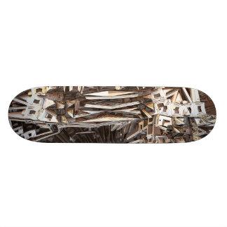 abstract design fractal skateboard deck