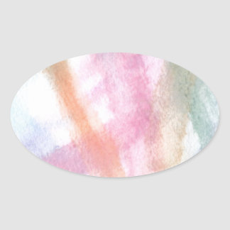 Abstract Design from Original Painting Oval Sticker
