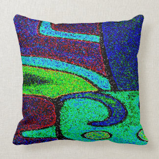 ABSTRACT DESIGN- GLYPH OF NUMBER FOUR, CAN THROW PILLOW