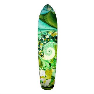 abstract design green fractal skateboard decks