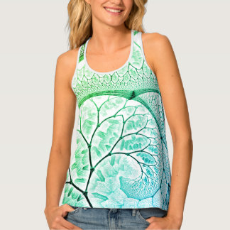 abstract design green fractal spiral singlet