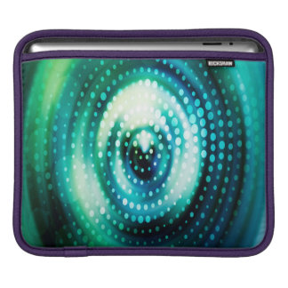 Abstract Design Green & White Concentric Circles iPad Sleeve
