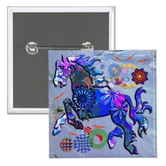 Abstract Design Horse 15 Cm Square Badge