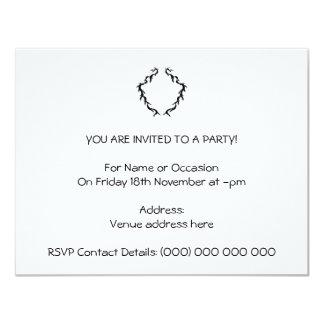 Abstract Design in Black and White. 11 Cm X 14 Cm Invitation Card