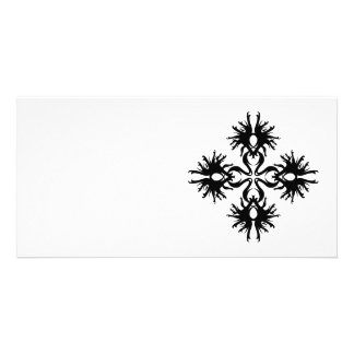 Abstract Design in Black. Personalized Photo Card
