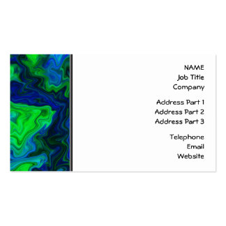 Abstract Design in Blue and Green. Business Card Template