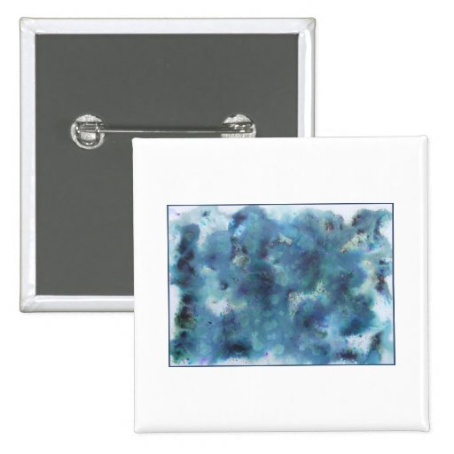 Abstract Design in Blue. Pinback Buttons