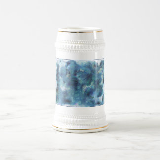 Abstract Design in Blue. Beer Steins