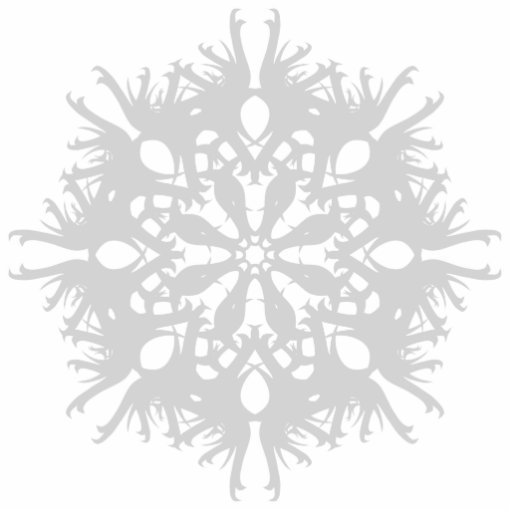 Abstract Design in Light Gray Photo Cutouts