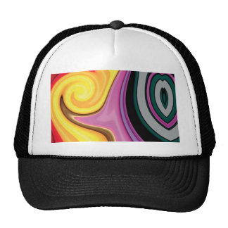 Abstract Design in Paint Swirls Trucker Hats