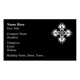 Abstract Design in White. Business Card