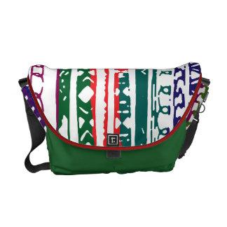 abstract design messenger bag