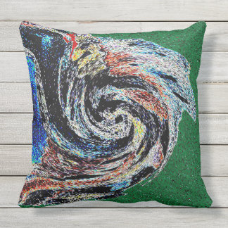 ABSTRACT DESIGN- NAN JEN FOUR THROW PILLOW