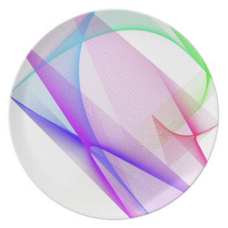 ABSTRACT DESIGN PASTEL COLOURS PLATE